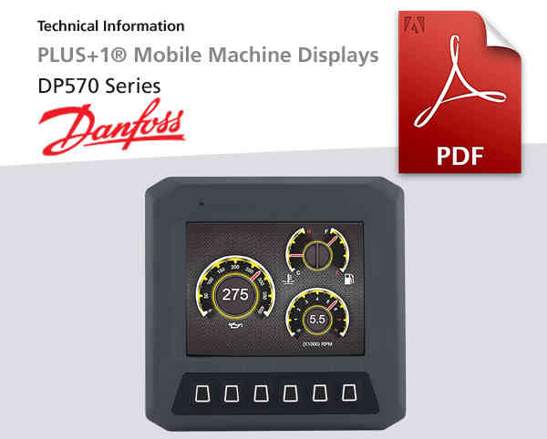 Elektronik-Displays DP570 Plus 1 R, Danfoss, Pdf-Datei zum Download